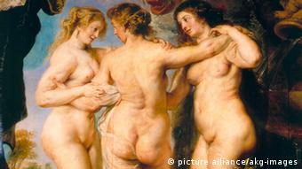 2-M120-G2-1638-B (173542) 'Die drei Grazien' Rubens, Peter Paul 1577-1640. 'Die drei Grazien', um 1638/40. Öl auf Holz, 221 x 181 cm. Inv.Nr. 1670 E: 'The Three Graces' Rubens, Peter Paul 1577-1640. 'The Three Graces', c.1638/40. Oil on wood, 221 x 181cm. Inv.Nr. 1670