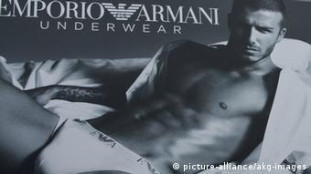David Beckham in Unterwäsche (Werbung)