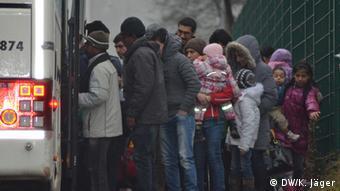 شماری از پناهجویان در شهر دورتموند آلمان