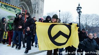 Members of the Identity movement hold in Vienna, Austria (Photo: Kurt Prinz/APA9