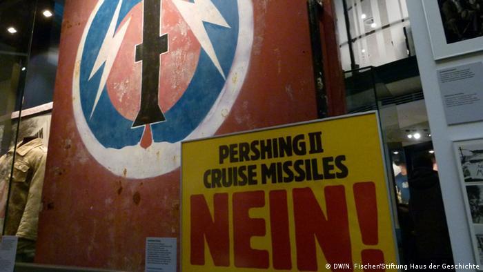 The American Way Die USA in Deutschland Ausstellung Haus der Geschichte Bonn Torflügel aus dem Depot Mutlangen US-Mittelstreckenraketen