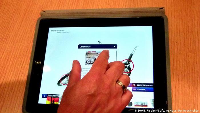 The American Way Die USA in Deutschland Ausstellung Haus der Geschichte Bonn Tablet-App zur Ausstellung