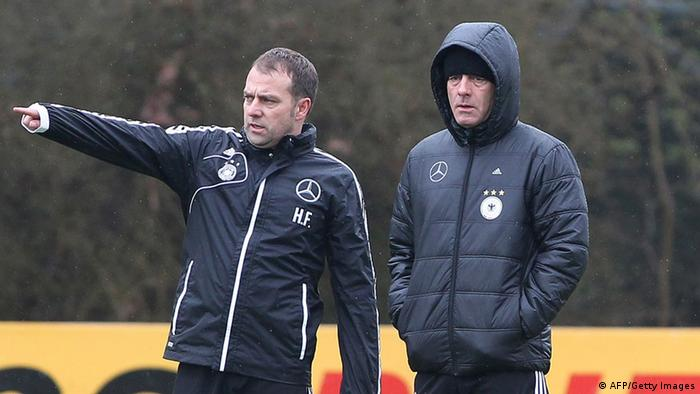 Hansi Flick and Joachim Löw, pictured in 2013