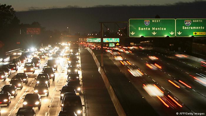 Autobahn Highway 10 USA Los Angeles Nacht (AFP/Getty Images)