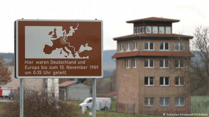 Sign marking the division in Germany until 1989