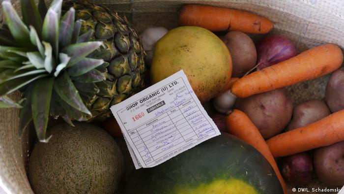 Box of fruit and vegetables