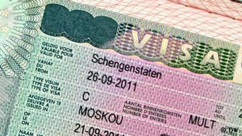 Российский паспорт с шенгенской визой