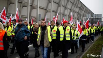 A strike by Lufthansa workers