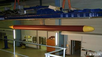The torpedo used in the tests at the HSVA