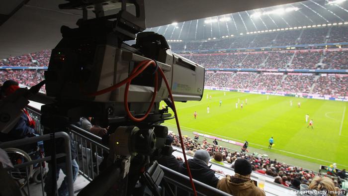 Kameras im Fußballstadion
