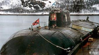 The Kursk at dock before it sunk