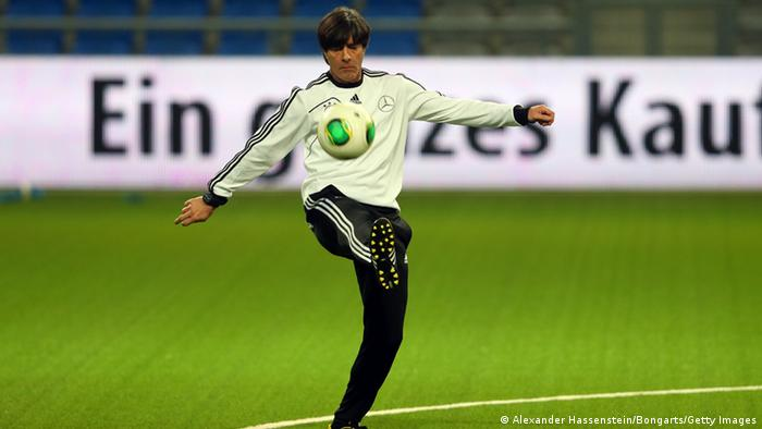 Joachim Loew, head coach of the German national football team during a training session at Astana arena on March 21, 2013 in Astana, Kazakhstan. (Photo by Alexander Hassenstein/Bongarts/Getty Images)