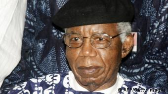 GettyImages 84357511 Nigerian writer, 70, Chinua Achebe is pictured on January 19, 2009 during a welcoming ceremony at Nnamdi Azikiwe International Airport in Abuja upon his return to Nigeria for the firrst time in over 10 years. Achebe, whose most famous work is 1958's 'Things Fall Apart,' is a literature professor at Bard College in New York state. AFP PHOTO / Abayomi Adeshida (Photo credit should read ABAYOMI aDESHIDA/AFP/Getty Images)