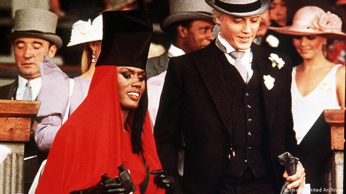 Christopher Walken and Grace Jones double up as the deadly duo Max Zorin and May Day in A View to a Kill.