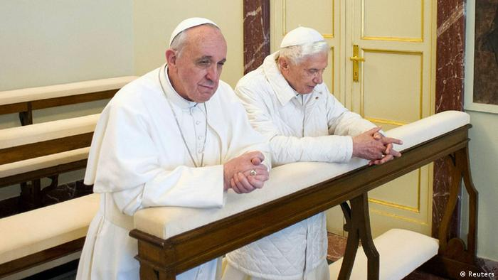 Papst Treffen Castel Gandolfo Benedikt Franziskus