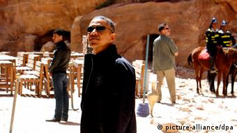 Barack Obama Besuch in Jordanien Petra (picture-alliance/dpa)