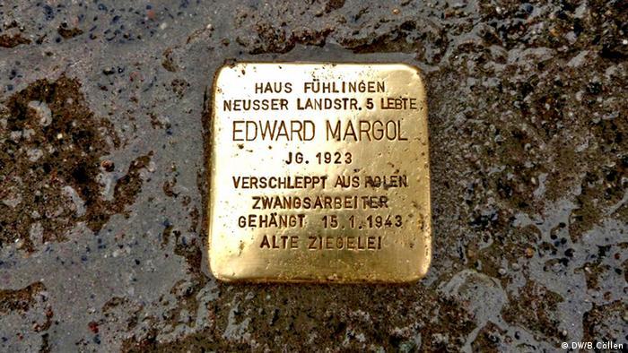 Stolperstein für Edward Margol in Köln