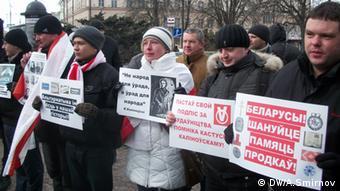 Tag des Willens Weißrussland Demo Opposition