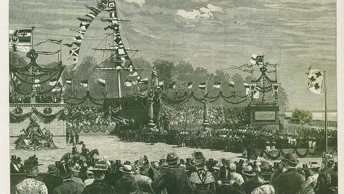 Историческое фото Кильского канала.