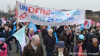 Frankreich Protest Homo-Ehe