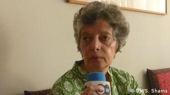 Zohra Yusuf in an interview with Deutschen Welle; Karachi, 23.03.2013; (Photo: DW / S. Shams)
