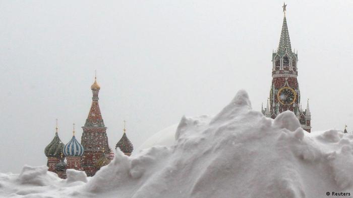 Schneesturm Russland Moskau Roter Platz März 2013 (Reuters)