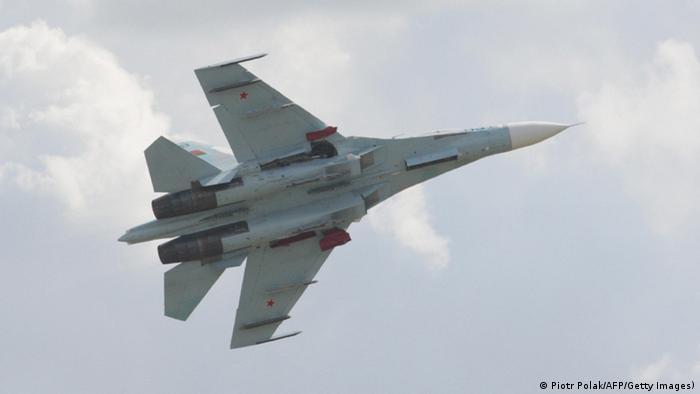 Russland Kampfjet Sukhoi Su-27 (Piotr Polak/AFP/Getty Images))