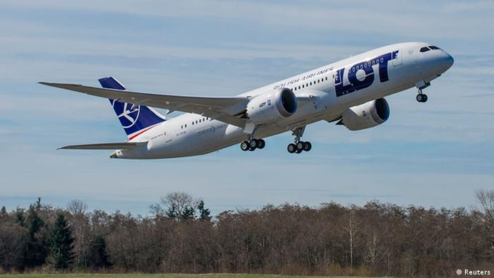 A LOT Polish Airlines 787 passenger jet takes off from Paine Field in Everett, Washington, in this March 25, 2013 handout photo courtesy of Boeing. (Photo via Reuters)