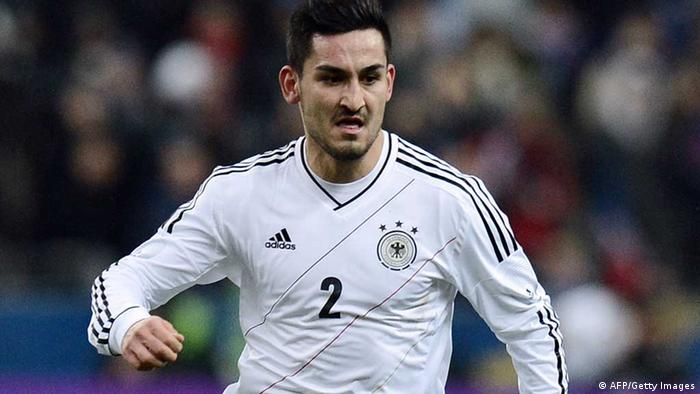 Germany's Ilkay Gundogan controls the ball during a friendly international football match between France and Germany on February 6, 2013 AFP PHOTO / FRANCK FIFE (Photo credit should read FRANCK FIFE/AFP/Getty Images)