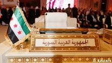 Doha Katar Arabische Liga Gipfeltreffen Syrien