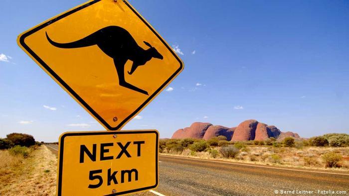Strassenschild Känguruh