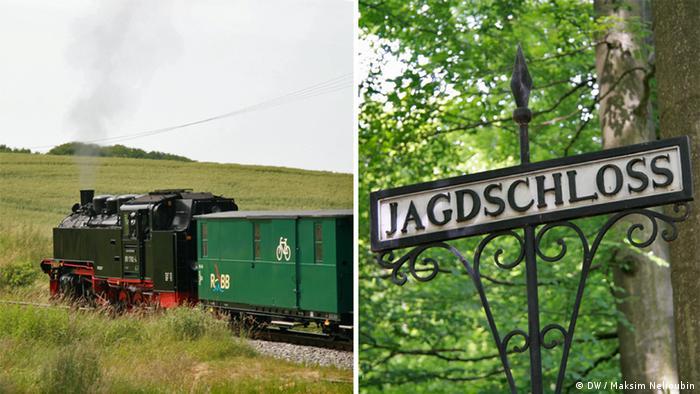 Неистовый Роланд (Rasender Roland). Узкоколейная железная дорога на острове Рюген (Rügen). Фото: DW / Максим Нелюбин