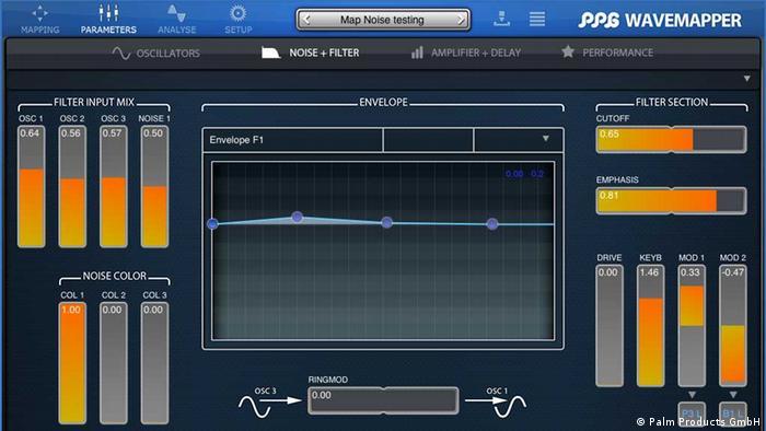 Screenshot von der WaveMapper App