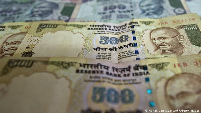 Währung Indien Indische Rupie (Manan Vatsyayana/AFP/Getty Images)