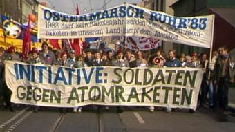 German pacifists take part in an Easter peace march