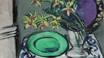 Натюрморт з орхідеями та зеленим блюдом Макса Бекманна