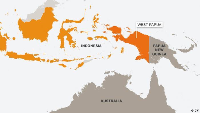 Karte West Papua Englisch (DW)