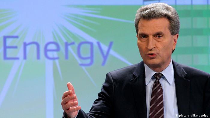 Єврокомісар з питань енергетики Ґюнтер Еттинґер