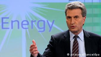 European Commissioner for Energy, Guenther Oettinger (photo: EPA/OLIVIER HOSLET +++(c) dpa - Bildfunk+++)