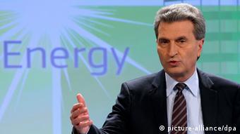 Єврокомісар з питань енергетики Ґюнтер Еттинґер говорить про перемогу для ЄС