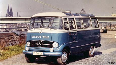 Ü-Wagen der Deutschen Welle in Köln