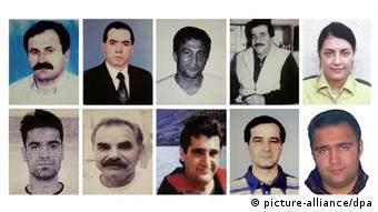 Images of the ten victims on a police handout (Photo: Police handout/Norbert Försterling/dpa)