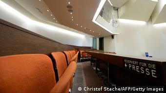 Regional Court of Munich courtroom interior (Photo: Christof Stache/AFP/Getty Images)