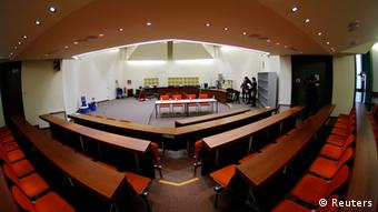 The courtroom where the trial against German Beate Zschaepe a member of the neo-Nazi group National Socialist Underground (NSU) will take place (photo: REUTERS/Michael Dalder)