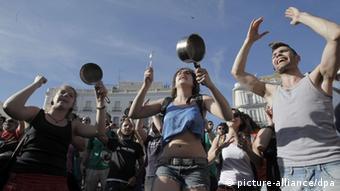 Συγκέντρωση των «Αγανακτισμένων» στη Μαδρίτη