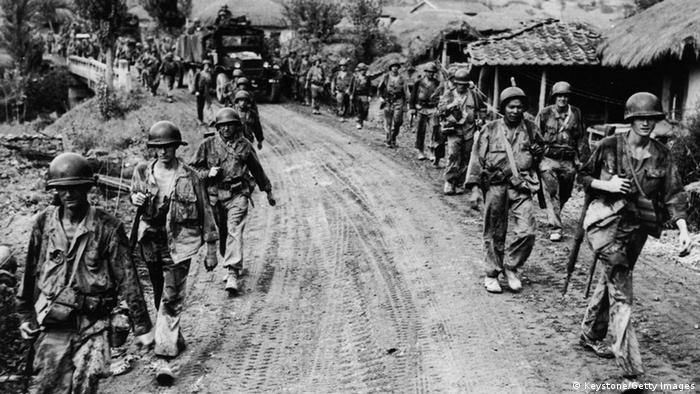 Korea Krieg 1950 US Soldaten Rückzug
