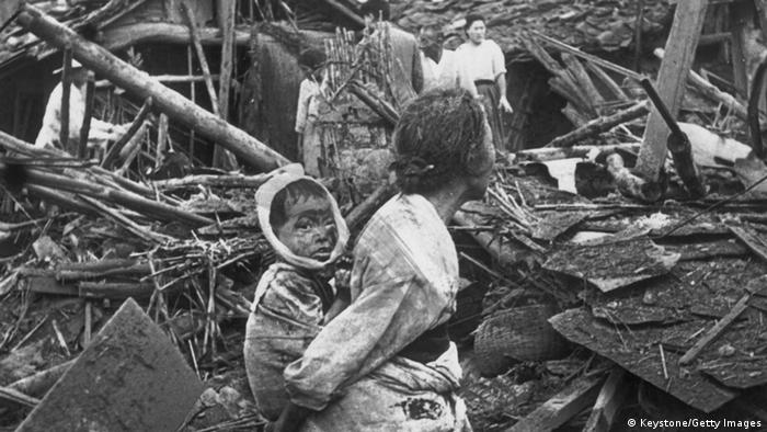 Korea Krieg 1950 Flüchtlinge in Pjongjang (Keystone/Getty Images)