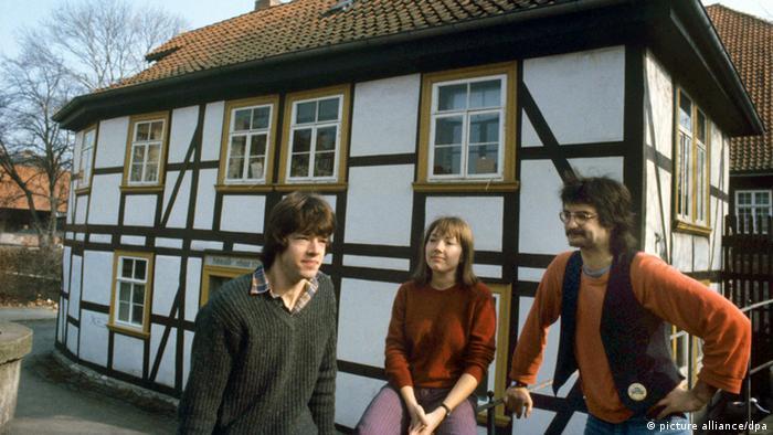 Half-timbered dorm in Göttingen Photo: Wolfgang Weihs (c) dpa - Report