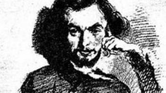 Karikatur von Charles Baudelaire
