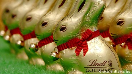 Chocolate rabbits from Lindt